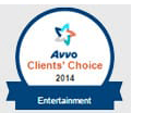 Avvo Clients's choice 2014 Entertainment